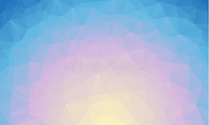 Abstrakte blaue polygonale Illustration, die aus Dreiecken bestehen Geometrischer Hintergrund in der Origamiart mit Steigung drei vektor abbildung
