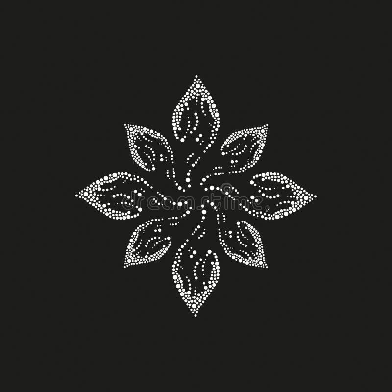 Abstrakte Blume auf einem schwarzen Hintergrund schönheit obacht vektor abbildung
