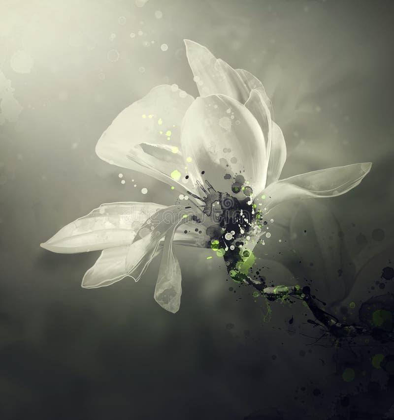 Abstrakte Blume stock abbildung