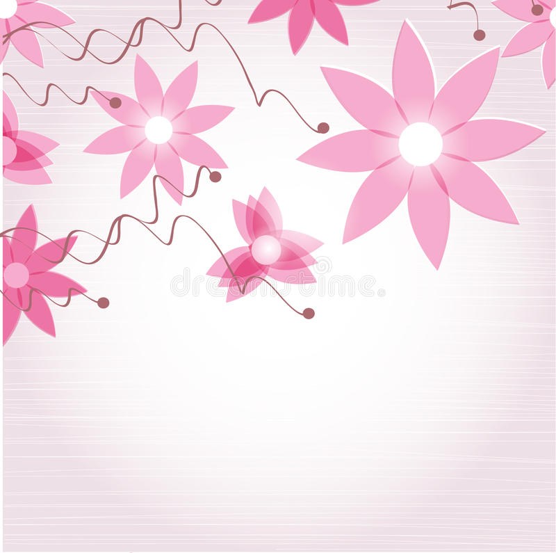 Abstrakte Blumen. vektor abbildung