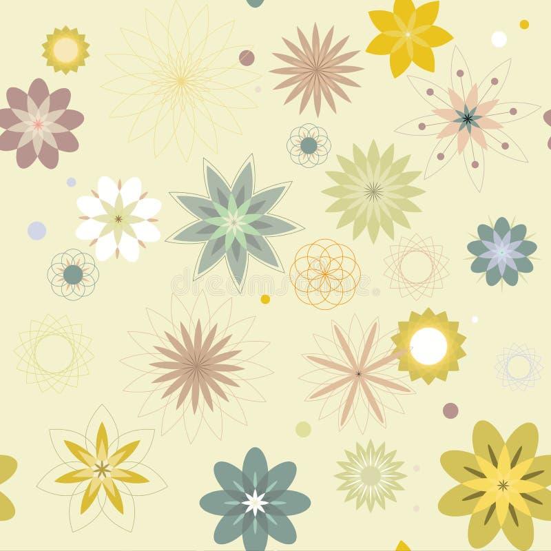 Abstrakte Blumen, ein nahtloses Muster stock abbildung