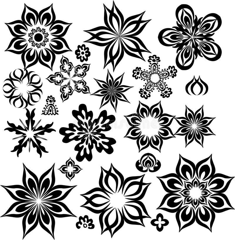 Abstrakte Blumen für Auslegung vektor abbildung