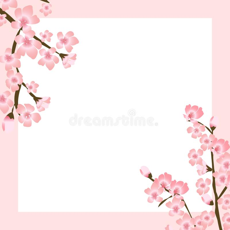 Abstrakte Blumen-Sakura Flower Japanese Natural Background-Vektor-Illustration vektor abbildung