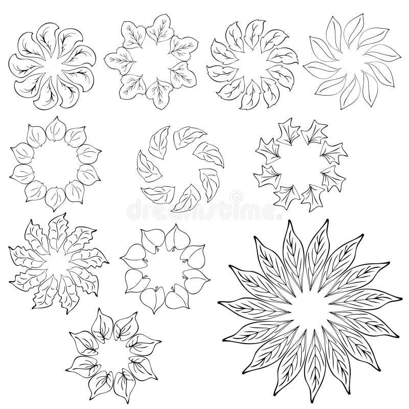 Abstrakte Blumenauslegungelemente vektor abbildung
