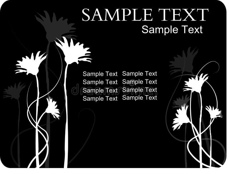 Abstrakte Blumenfahne vektor abbildung