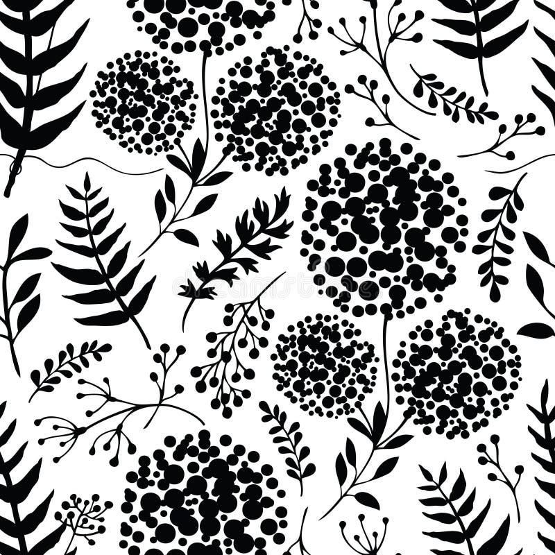 Abstrakte Blumenhintergrund Schwarzfarbe stock abbildung