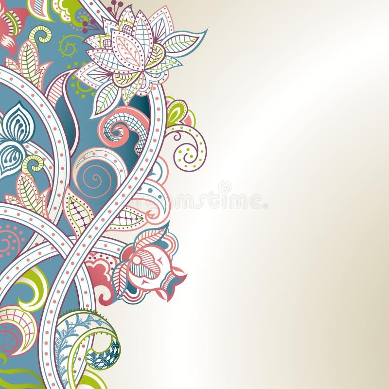 Download Abstrakte Blumenkurve stock abbildung. Illustration von blumenblatt - 26353456