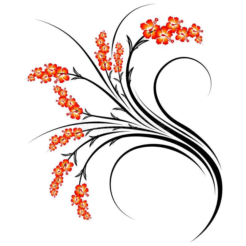 Abstrakte Blumenrollen lizenzfreie abbildung