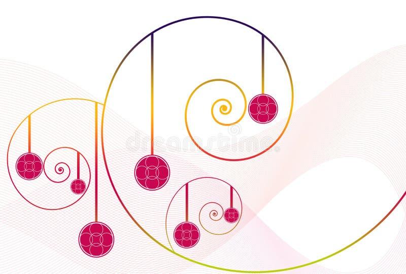 Abstrakte Blumenstrudel vektor abbildung