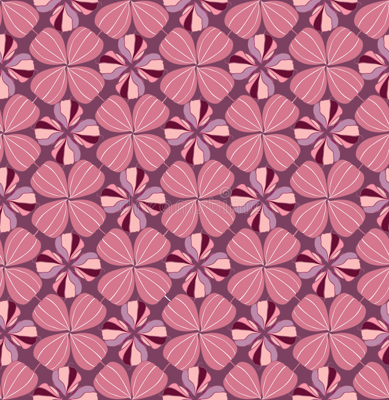 Abstrakte Blumenverzierung. nahtloses Muster lizenzfreie abbildung