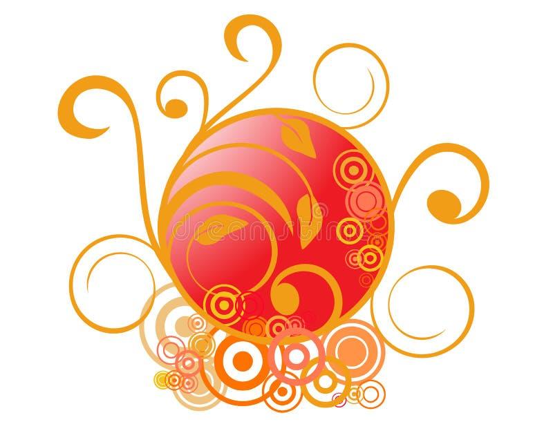 Download Abstrakte Blumenverzierungen Vektor Abbildung - Illustration von dekor, aufbau: 9087868
