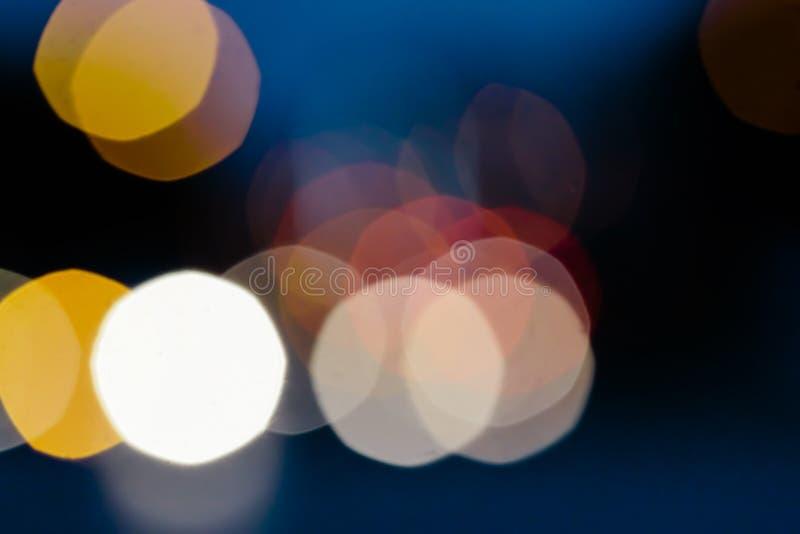 Abstrakte bokeh Lichter in der Stadt lizenzfreies stockfoto