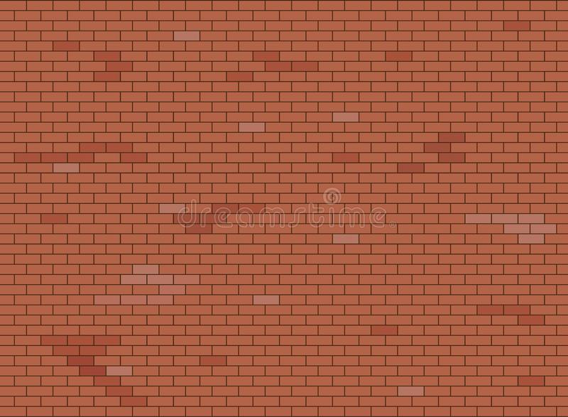 Abstrakte Braun- und Wandhintergrundbeschaffenheit des roten Backsteins, Vektorillustration stock abbildung