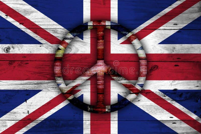 Abstrakte britische Flagge stock abbildung