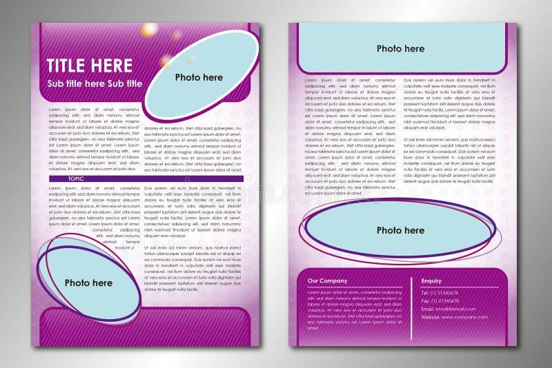 Abstrakte Broschüren-Schablone lizenzfreie stockfotos