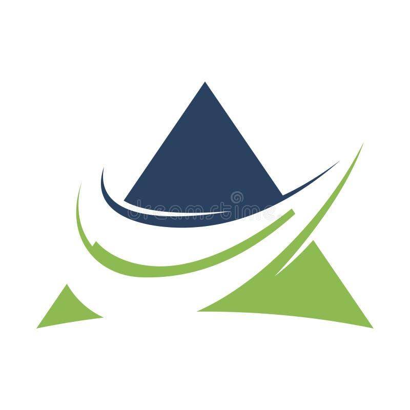 ABSTRAKTE BUCHHALTUNGS-FINANZVERWALTUNGS-LOGO-DESIGN-SCHABLONE lizenzfreie abbildung
