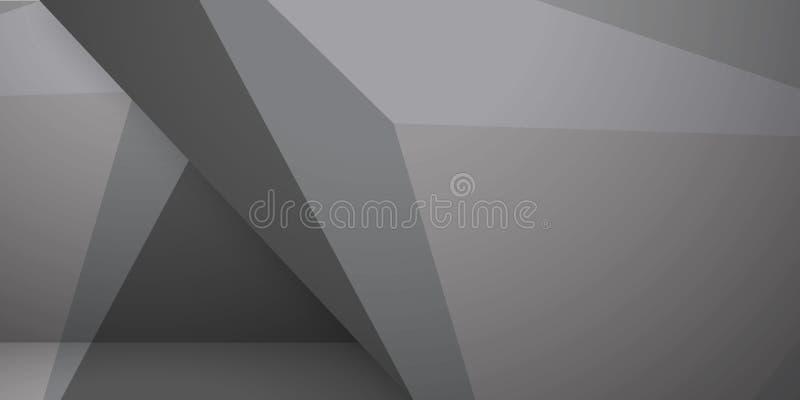 Abstrakte bunte bunte Hintergrundgeometrische zerknitterte dreieckige niedrige Polyart der Dreieckhintergrundzusammenfassung graf vektor abbildung