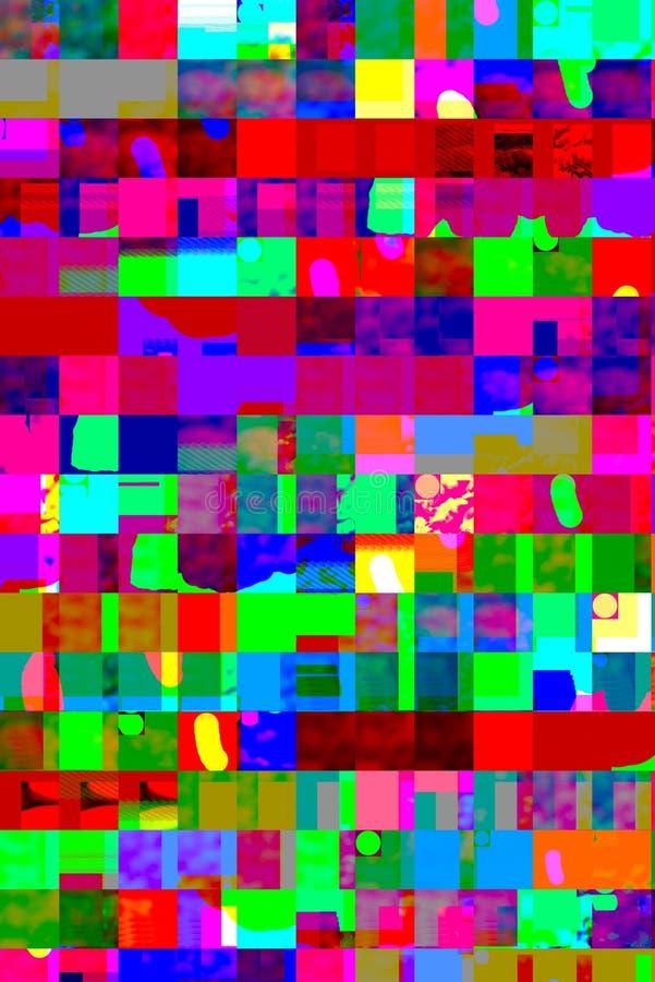 Abstrakte bunte Entwurfsgrafik mit dynamischen Schichten geometri lizenzfreie abbildung