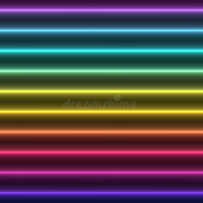 Abstrakte bunte Glühengeraden stock abbildung