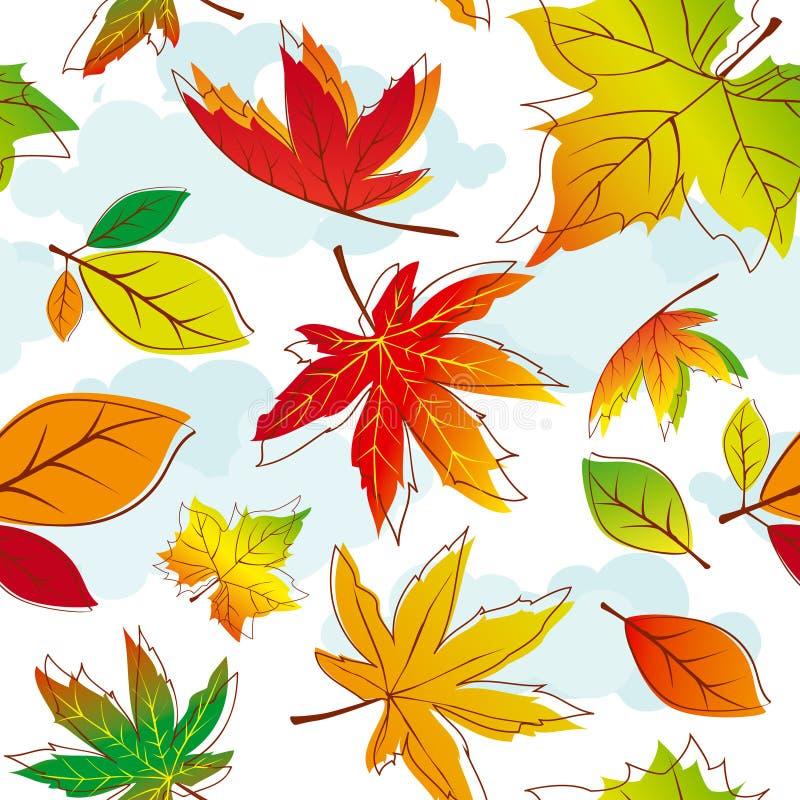 Abstrakte bunte Herbstblätter vektor abbildung