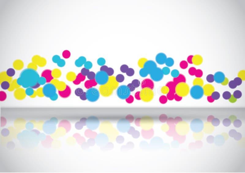Abstrakte bunte Luftblasen lizenzfreie abbildung