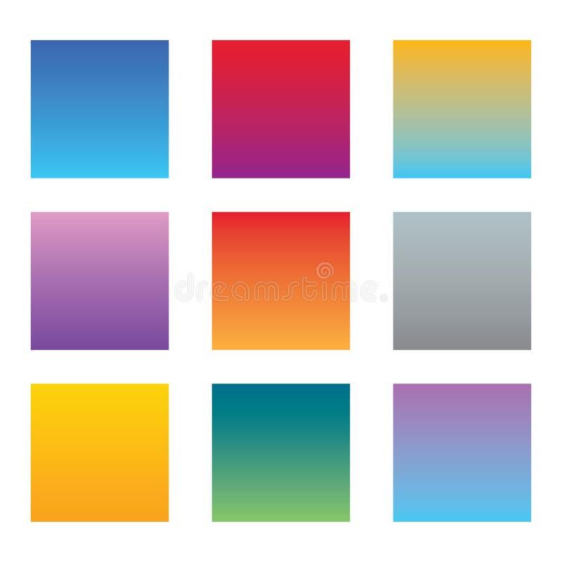 Abstrakte bunte mehrfarbige Hintergründe eingestellt stock abbildung