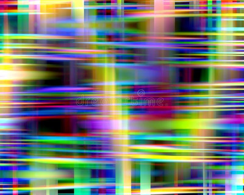 Abstrakte bunte spielerische Lichtformen, -graphiken, -geometrie, -hintergrund und -beschaffenheit lizenzfreie abbildung