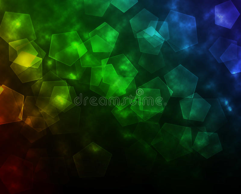 Abstrakte bunte Tapete mit fünf Sternen stockbild