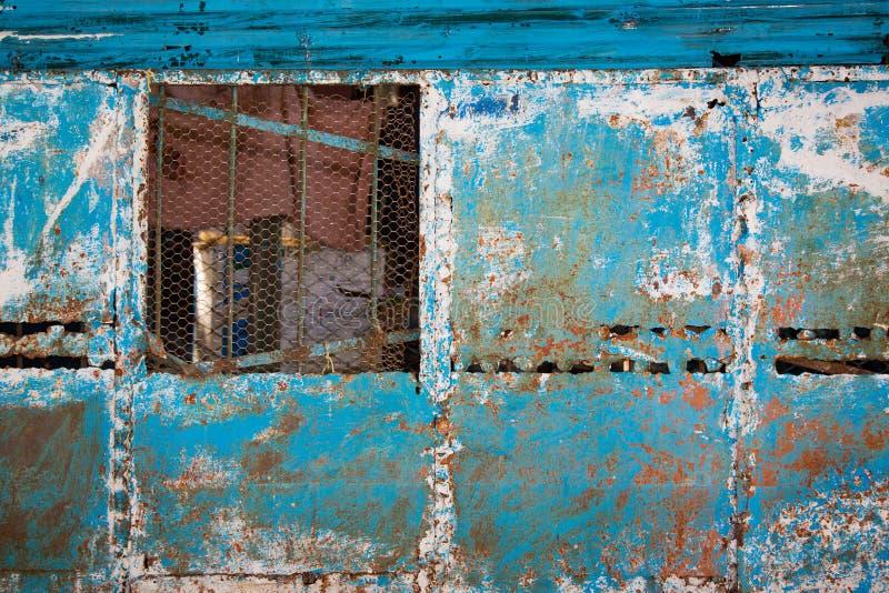 Abstrakte bunte Wand in Havana Cuba stockfotos