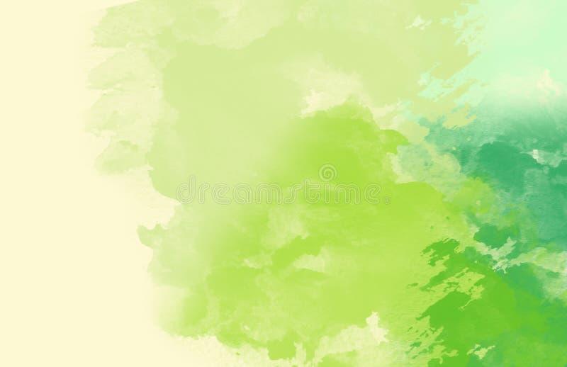 Abstrakte bunte Wasserfarbe, grüner Ton stockfotos