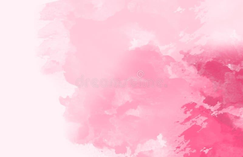 Abstrakte bunte Wasserfarbe, Rosarosenton stockbilder