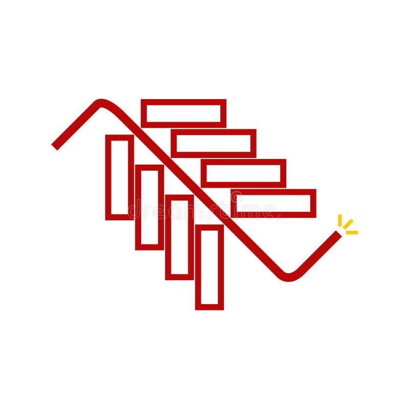Abstrakte Chili Stick Firecracker Symbol Vector-Illustrations-Grafik stock abbildung