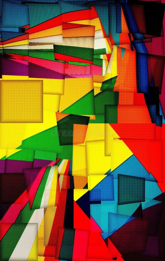 Abstrakte Collage von Hintergr?nden der gew?lbten farbigen Pappe stock abbildung