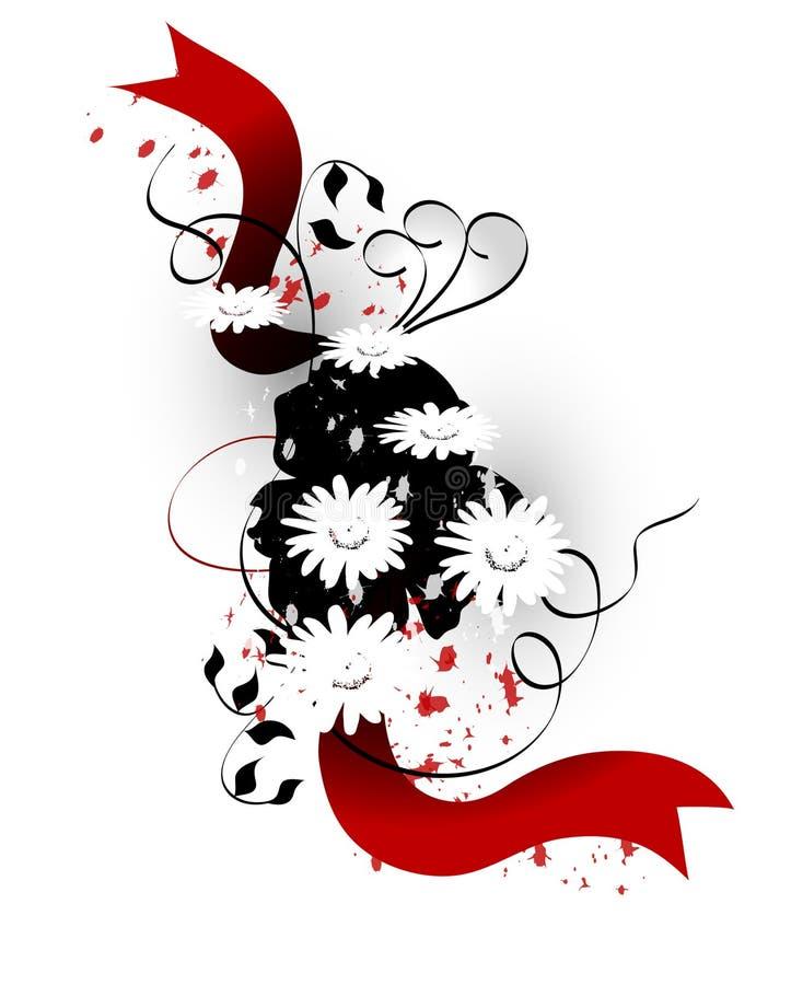 Abstrakte Daisy Design stockbilder