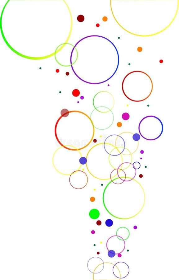 Abstrakte Dekoration mit Farbenkreisen vektor abbildung