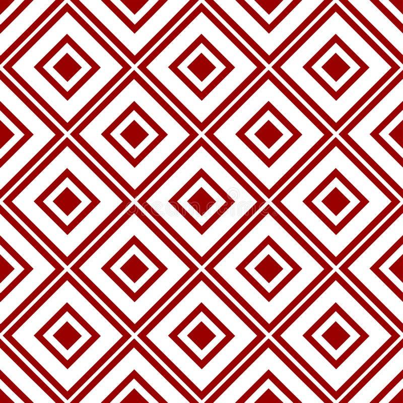 Abstrakte dekorative orientalische nahtlose königliche mit Blumenweinlese-arabische chinesische transparente rote Muster-Beschaff lizenzfreie abbildung
