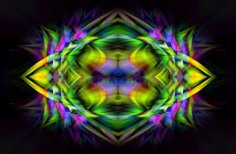 Abstrakte Digital-Kunst Futuristisches Fractalwelt-illusration stock abbildung