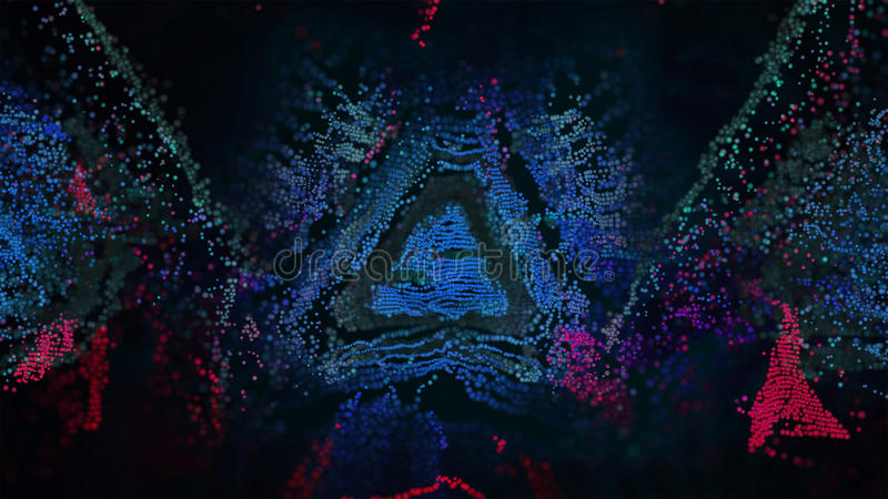 Abstrakte Digital-Pixel der Illustrations-3D lizenzfreie stockfotos