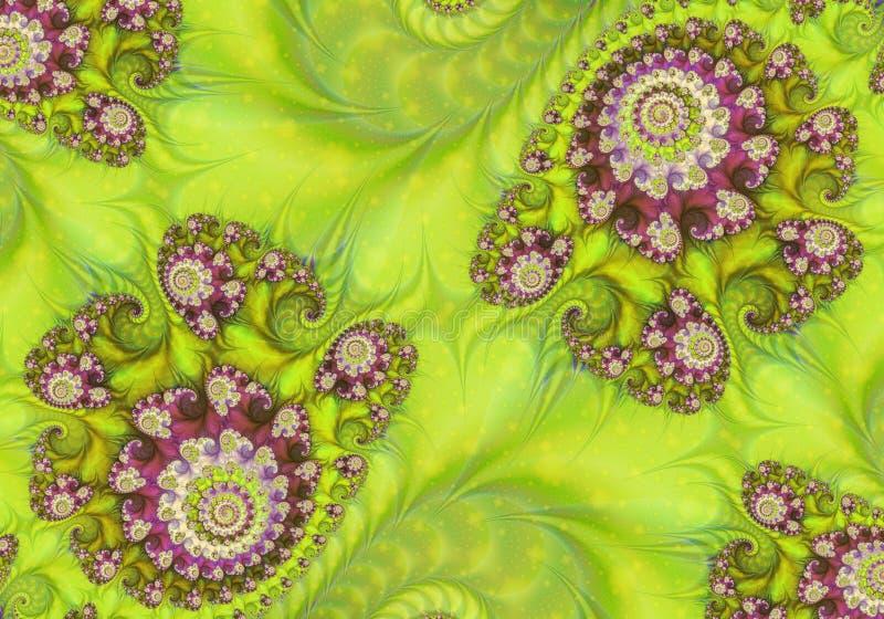 Abstrakte digitale Gestaltungsarbeit Muster der Natur Magische Oberteile lizenzfreie abbildung
