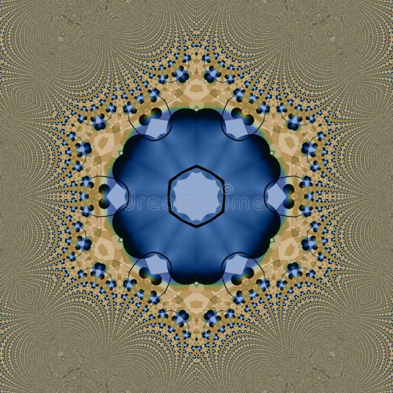 Abstrakte digitale Kunst Caleidoscope mit vielen Details lizenzfreie abbildung