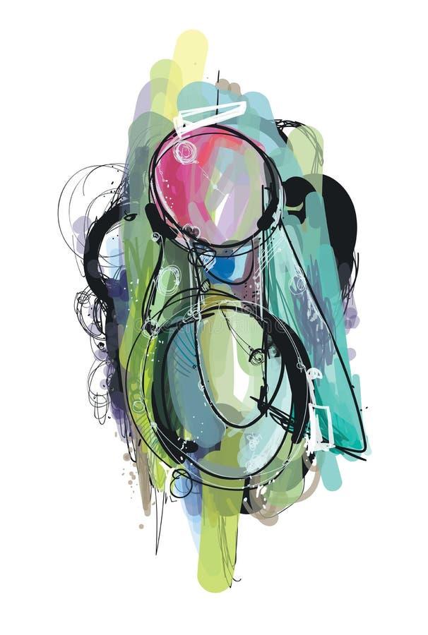 Abstrakte digitale Malereikunst lizenzfreie abbildung