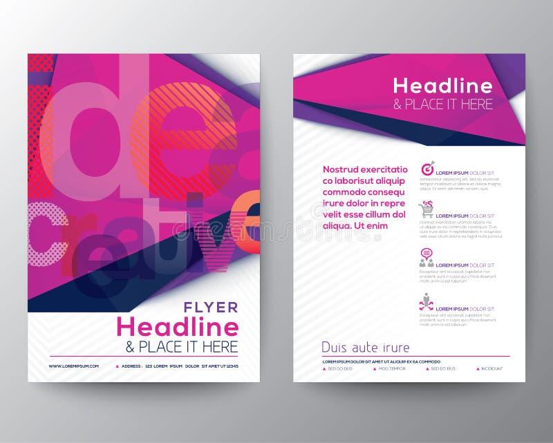 Abstrakte Dreieck-Broschüren-FliegerEntwurfschablone lizenzfreie abbildung