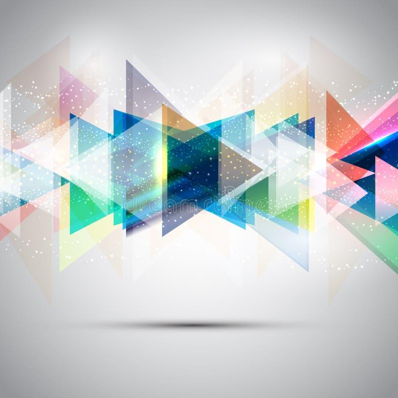 Abstrakte Dreiecke lizenzfreie abbildung
