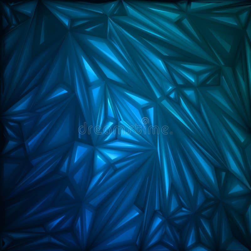 Abstrakte Dreieckglühenschablone. ENV 8 vektor abbildung