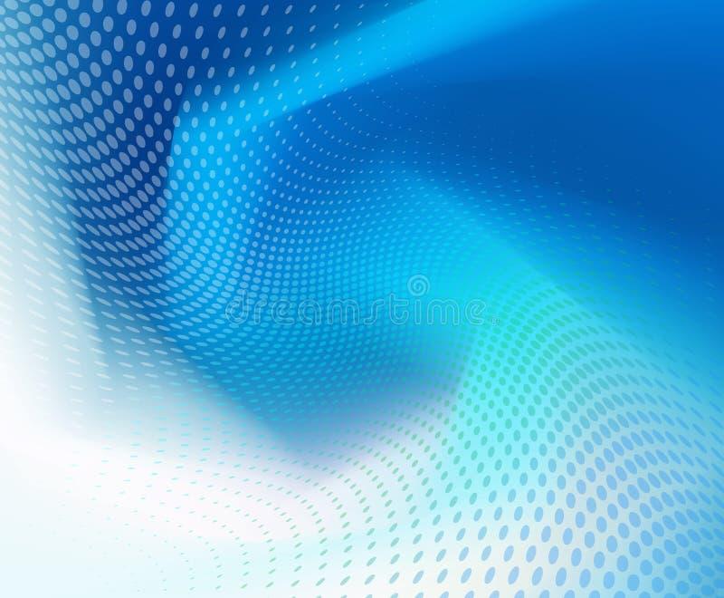 Abstrakte dunkelblaue Welle mit Punkthintergrund lizenzfreie abbildung