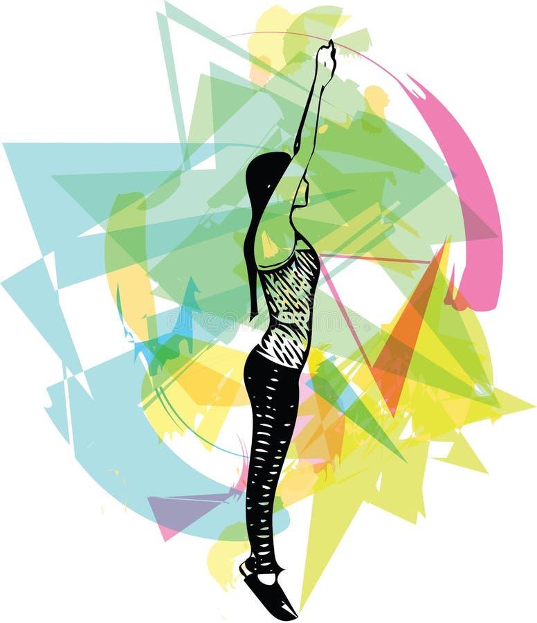 Abstrakte Eignungsfrau, ausgebildeter weiblicher Körper vektor abbildung