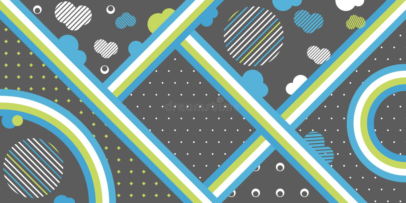 Abstrakte einfache Formlinie Kunsthintergrund des Vektors lizenzfreie abbildung