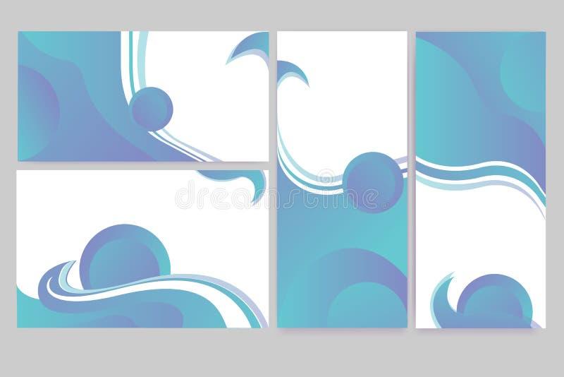Abstrakte elegante Fahnen eingestellt von den Schablonen vektor abbildung