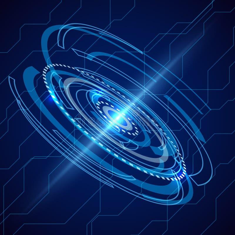 Abstrakte elektrische Telekommunikation Sciencefiction techno Vektor lizenzfreie abbildung