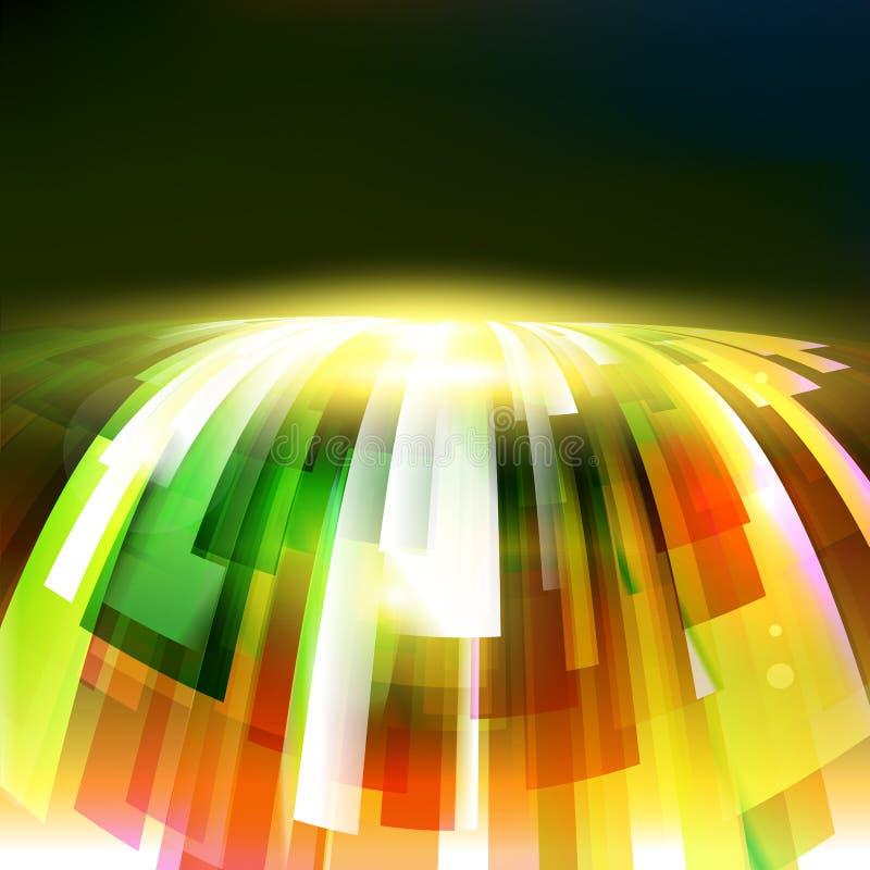 Abstrakte Energiewelle am dunklen Hintergrund lizenzfreie abbildung